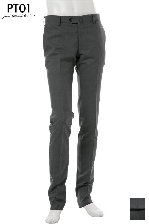 PT01 ピーティーゼロウーノ パンツ スラックス メンズ RIDF01 MZ22 グレー 送料無料 楽ギフ_包装 10%OFFクーポンプレゼント 2004値下げ