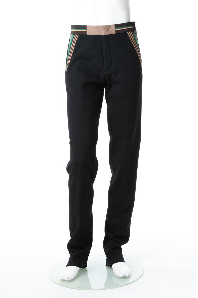 フェンディー FENDI パンツ スラックス メンズ FB0503 A70S ブラック 送料無料 楽ギフ_包装 10%OFFクーポンプレゼント 2019年春夏新作