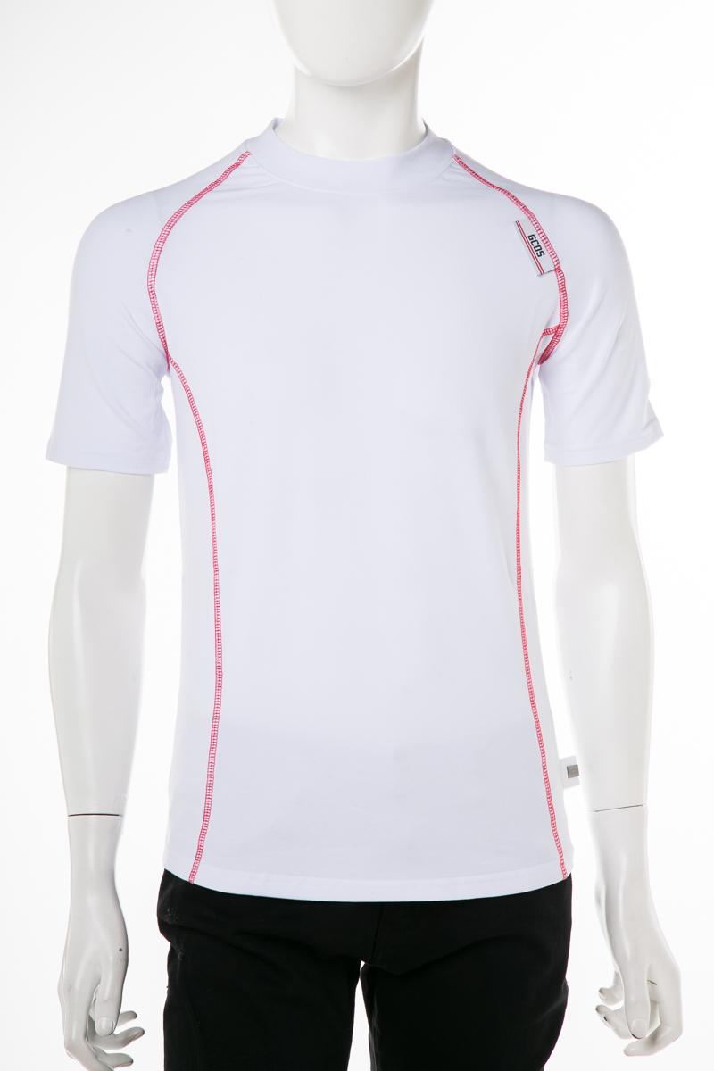 ジーシーディーエス GCDS Tシャツ 半袖 丸首 クルーネック 01 メンズ SS19M020053 ホワイト 送料無料 楽ギフ_包装 2019年春夏新作 10%OFFクーポンプレゼント