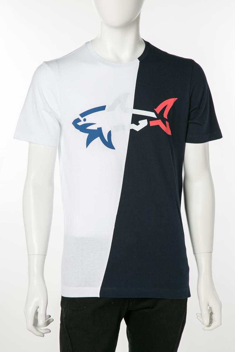 ポールアンドシャーク PAUL&SHARK Tシャツ 半袖 丸首 クルーネック 013 メンズ E19P1139 ホワイト×ネイビー 送料無料 楽ギフ_包装 2019年春夏新作 10%OFFクーポンプレゼント 2019SS_SALE