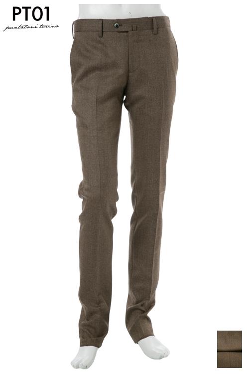 PT01 ピーティーゼロウーノ パンツ スラックス メンズ RIDF01 LO22 ブラウン 送料無料 楽ギフ_包装 10%OFFクーポンプレゼント 2004値下げ