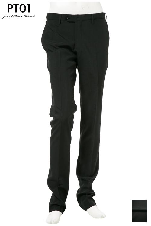 PT01 ピーティーゼロウーノ パンツ スラックス メンズ RIDS01Z CT01 ブラック 送料無料 楽ギフ_包装 10%OFFクーポンプレゼント 【ラッキーシール対応】