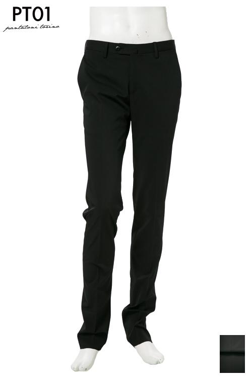 PT01 ピーティーゼロウーノ パンツ スラックス メンズ RIDS01Z DG01 ブラック 送料無料 楽ギフ_包装 10%OFFクーポンプレゼント 【ラッキーシール対応】