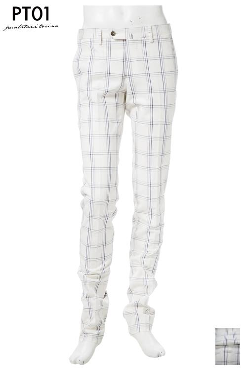PT01 ピーティーゼロウーノ パンツ スラックス メンズ RIDS01Z LT27 ホワイト 送料無料 楽ギフ_包装 10%OFFクーポンプレゼント 【ラッキーシール対応】
