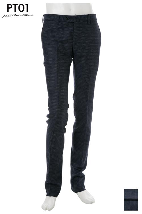 PT01 ピーティーゼロウーノ パンツ スラックス メンズ RIDF01 MZ48 ネイビー 送料無料 楽ギフ_包装 10%OFFクーポンプレゼント 2004値下げ