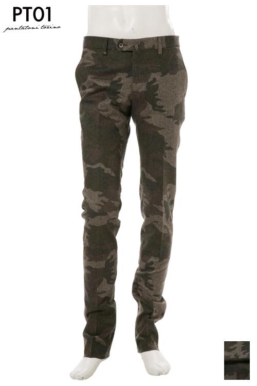 PT01 ピーティーゼロウーノ パンツ スラックス メンズ RIDF01 KI02 迷彩 送料無料 楽ギフ_包装 10%OFFクーポンプレゼント 2004値下げ