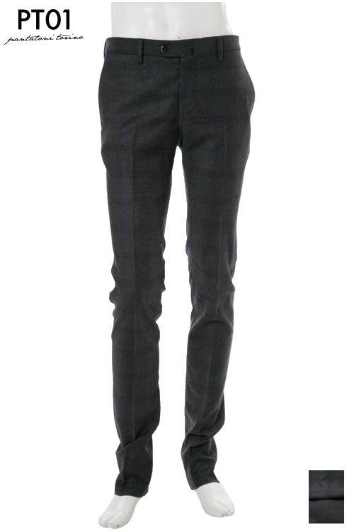 PT01 ピーティーゼロウーノ パンツ スラックス メンズ RIDF01 MZ51 ダークグレイ 送料無料 楽ギフ_包装 10%OFFクーポンプレゼント 2004値下げ