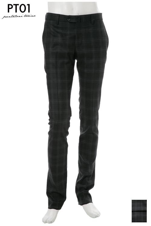 PT01 ピーティーゼロウーノ パンツ スラックス メンズ RIDF01 MZ52 ダークグレイ 送料無料 楽ギフ_包装 10%OFFクーポンプレゼント 2004値下げ
