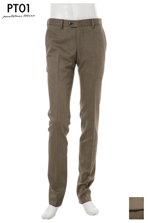 PT01 ピーティーゼロウーノ パンツ スラックス メンズ RIDF01 LO17 ブラウン 送料無料 楽ギフ_包装 10%OFFクーポンプレゼント 2004値下げ