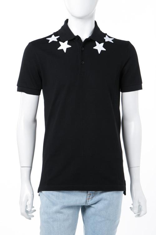ジバンシー ジバンシィ GIVENCHY ポロシャツ 半袖 メンズ BM700V3006 ブラック×ホワイト 送料無料 楽ギフ_包装 10%OFFクーポンプレゼント