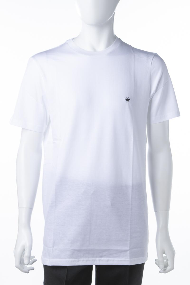 クリスチャンディオール Christian Dior Tシャツ 半袖 丸首 クルーネック メンズ 733J603B0446 ホワイト 送料無料 楽ギフ_包装 2019年春夏新作 10%OFFクーポンプレゼント