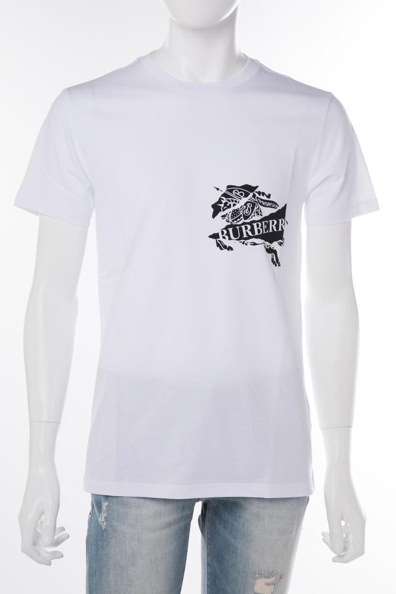 バーバリー BURBERRY Tシャツ 半袖 丸首 クルーネック 1005 A1464 メンズ 8007014 ホワイト 送料無料 楽ギフ_包装 10%OFFクーポンプレゼント 2019年春夏新作