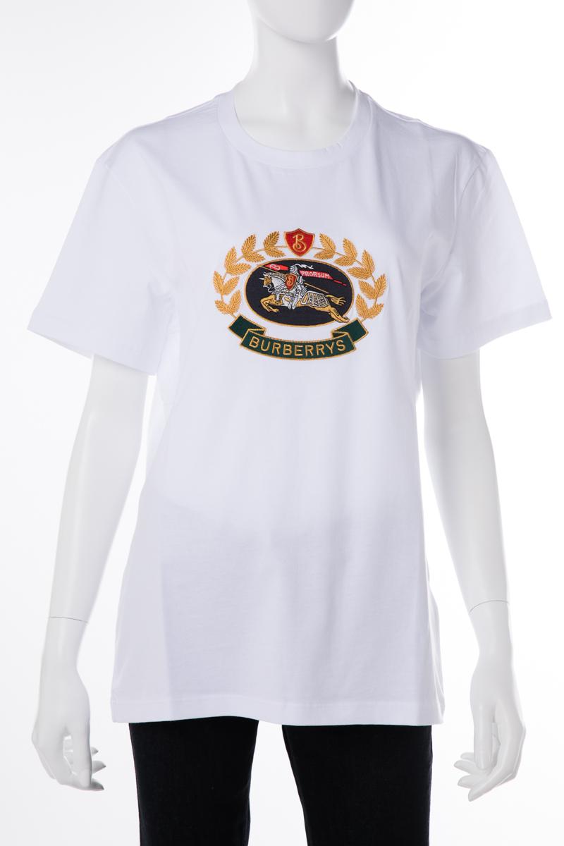 バーバリー BURBERRY Tシャツ 半袖 丸首 クルーネック 1007 A1464 レディース 8002932 ホワイト 送料無料 楽ギフ_包装 10%OFFクーポンプレゼント 2019年春夏新作