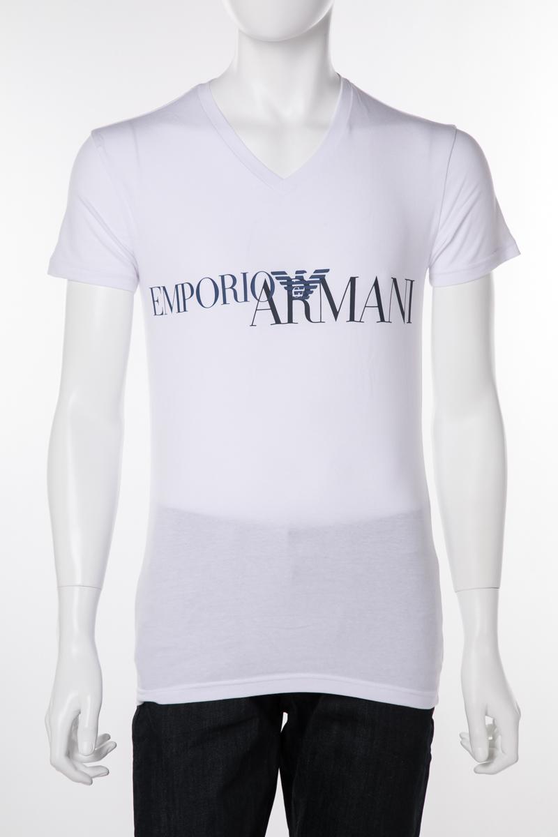 アルマーニ エンポリオアルマーニ Emporio Armani Tシャツアンダーウェア Tシャツ 半袖 Vネック メンズ 110810 9P516 ホワイト 送料無料 楽ギフ_包装 10%OFFクーポンプレゼント 【ラッキーシール対応】