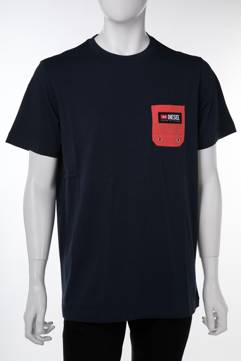 ディーゼル DIESEL Tシャツアンダーウェア Tシャツ 半袖 丸首 クルーネック メンズ 00ST5I 0NAVJ ネイビー 送料無料 楽ギフ_包装 10%OFFクーポンプレゼント 【ラッキーシール対応】