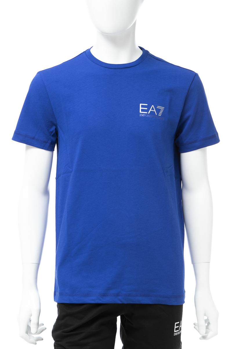 アルマーニ エンポリオアルマーニ Emporio Armani EA7 Tシャツ 半袖 丸首 クルーネック メンズ 3GPT49 PJJ6Z ブルー 送料無料 楽ギフ_包装 10%OFFクーポンプレゼント 【ラッキーシール対応】