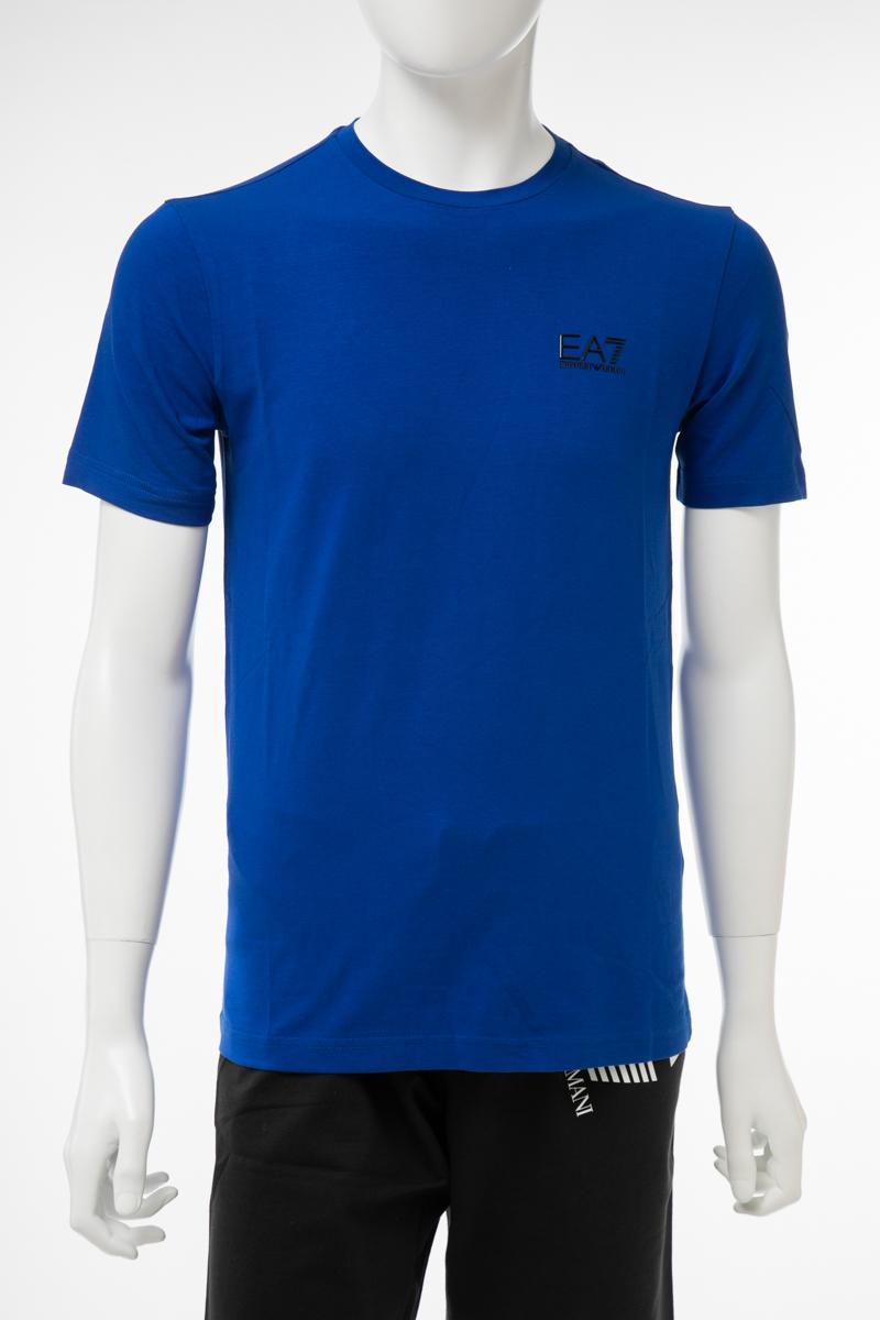 アルマーニ エンポリオアルマーニ Emporio Armani EA7 Tシャツ 半袖 丸首 クルーネック メンズ 3GPT52 PJM5Z ブルー 送料無料 楽ギフ_包装 10%OFFクーポンプレゼント 【ラッキーシール対応】