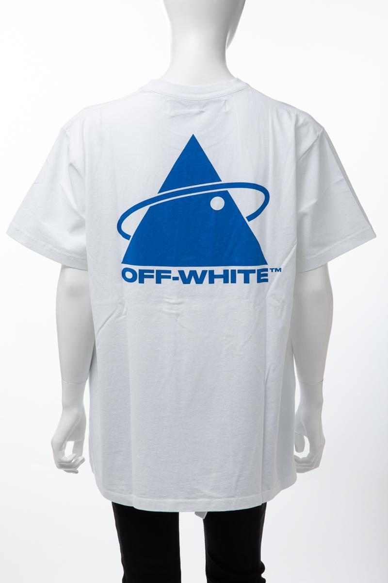 【全品10%OFFクーポン配布中!】オフホワイト OFF-WHITE Tシャツ 半袖 丸首 クルーネック メンズ AA038E19 185013 ホワイト 送料無料 楽ギフ_包装 10%OFFクーポンプレゼント 2019年秋冬新作