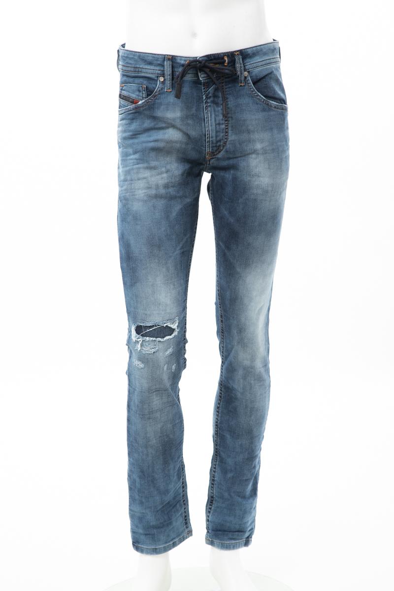【6/1 0:00~6/3 9:59まで ポイント5倍】ディーゼル DIESEL ジーンズパンツ ジョガーデニム THOMMER CB-NE Sweat jeans メンズ 00S8MK 069AA ブルー 送料無料 楽ギフ_包装 10%OFFクーポンプレゼント