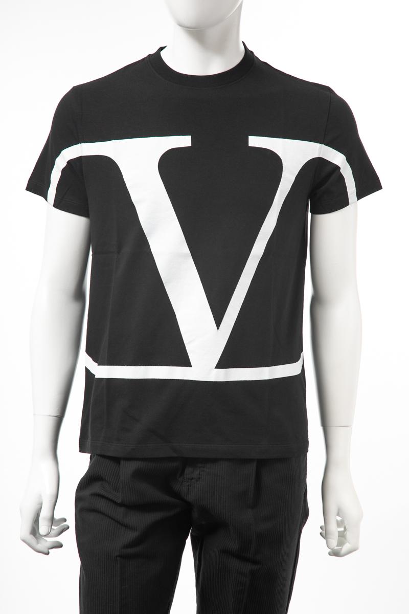 【全品10%OFFクーポン配布中!】ヴァレンティノ Valentino Tシャツ 半袖 丸首 クルーネック メンズ SV3MG02T5F6 ブラック 送料無料 楽ギフ_包装 10%OFFクーポンプレゼント 2019年秋冬新作