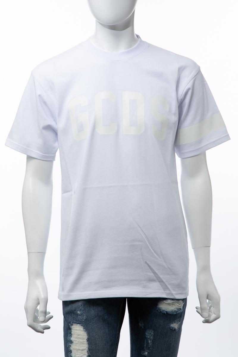 ジーシーディーエス GCDS Tシャツ 半袖 丸首 クルーネック 01 メンズ CC94U020073 ホワイト 送料無料 楽ギフ_包装 2019年春夏新作 10%OFFクーポンプレゼント