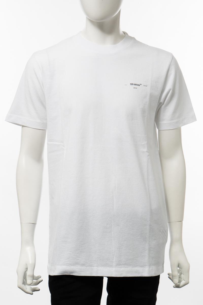 【6/1 0:00~6/3 9:59まで ポイント5倍】オフホワイト OFF-WHITE Tシャツ 半袖 丸首 クルーネック メンズ AA027R20 185032 ホワイト 送料無料 楽ギフ_包装 10%OFFクーポンプレゼント 2020年春夏新作