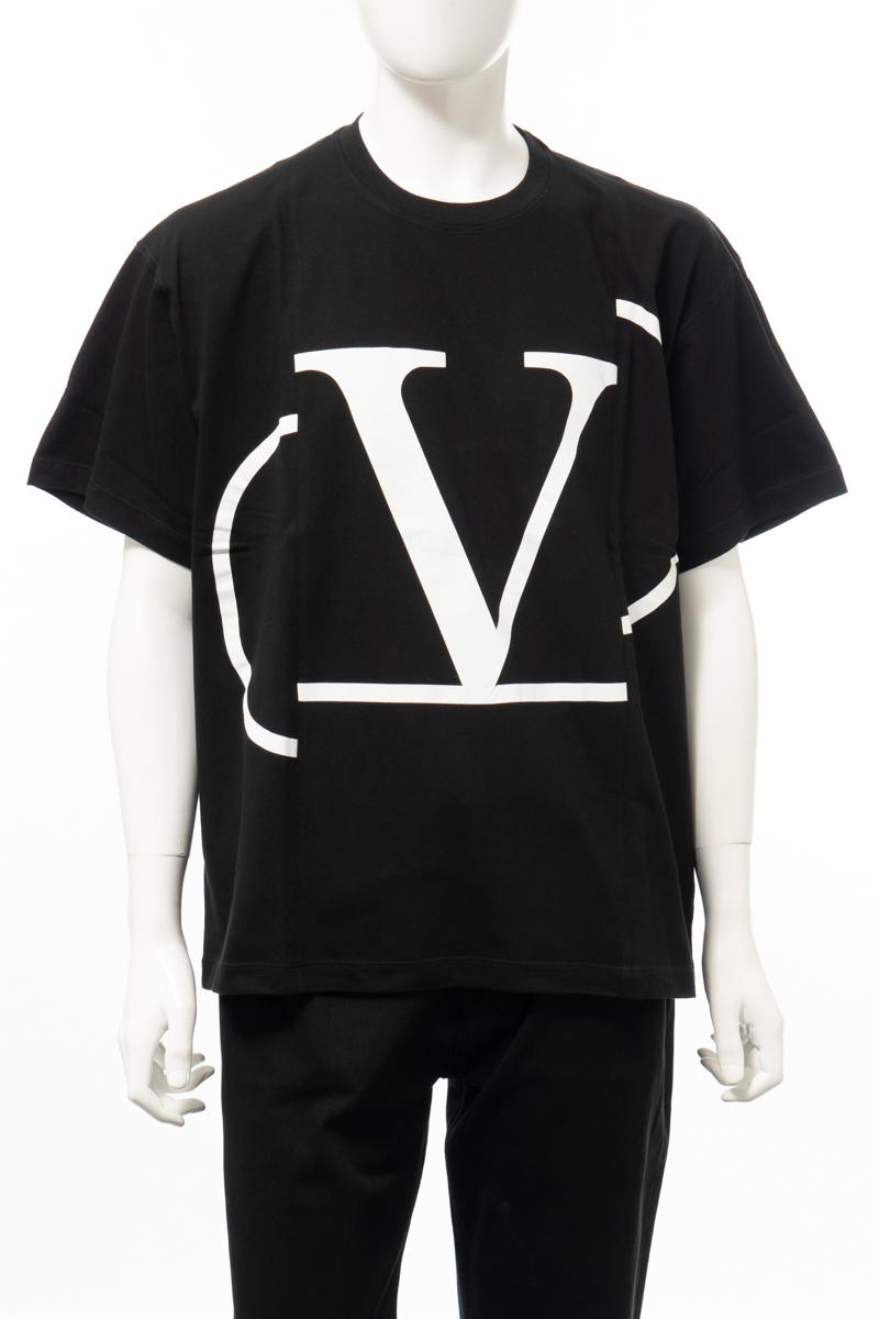 【全品10%OFFクーポン配布中!】ヴァレンティノ Valentino Tシャツ 半袖 丸首 クルーネック メンズ TV3MG01SLIA ブラック 送料無料 楽ギフ_包装 10%OFFクーポンプレゼント 2020年春夏新作