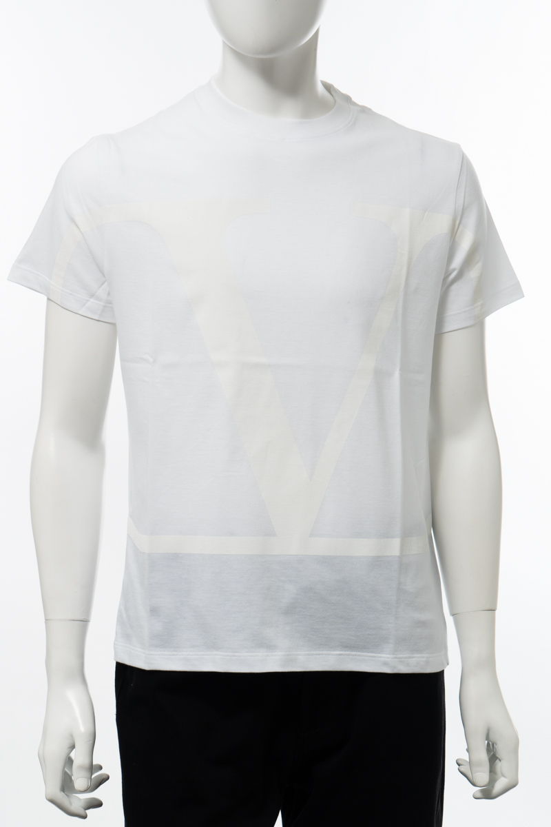 【全品10%OFFクーポン配布中!】ヴァレンティノ Valentino Tシャツ 半袖 丸首 クルーネック メンズ TV3MG02T5F6 ホワイト 送料無料 楽ギフ_包装 10%OFFクーポンプレゼント 2020年春夏新作