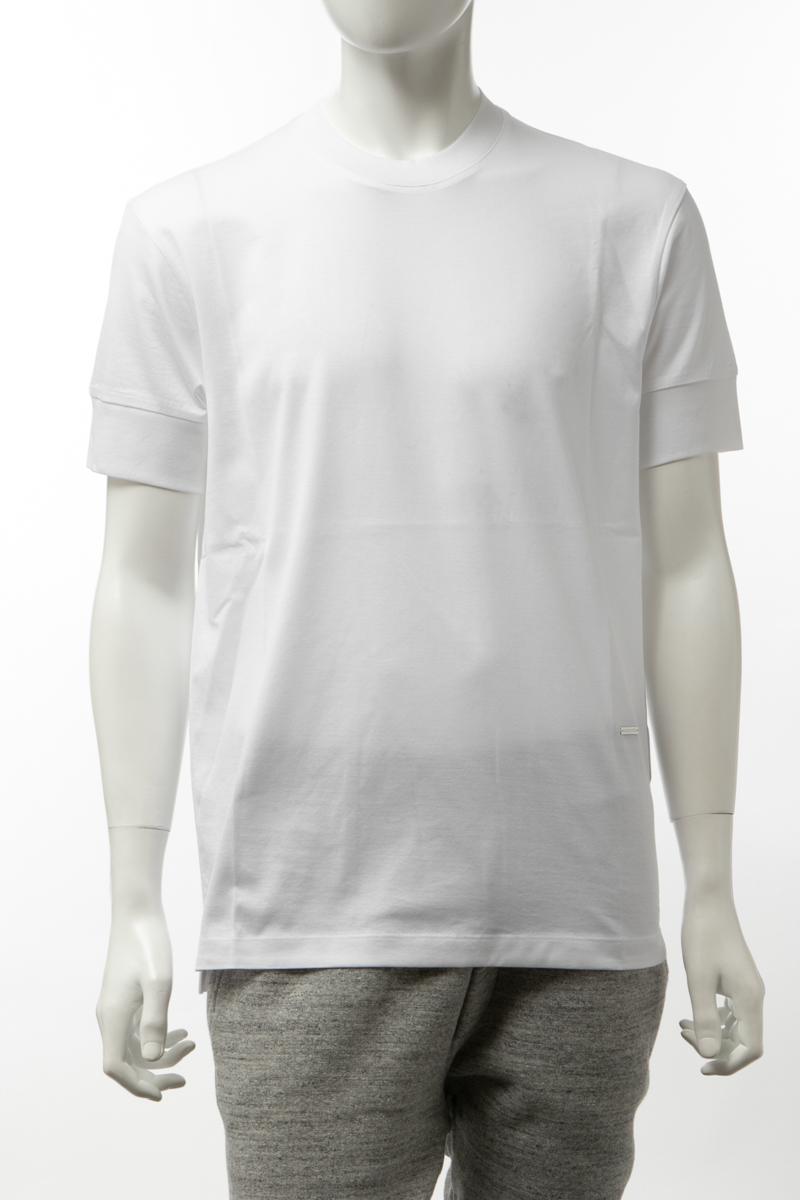 【全品10%OFFクーポン配布中!】ディースクエアード DSQUARED2 Tシャツ 半袖 丸首 クルーネック メンズ S74GD0690S22401 ホワイト 送料無料 楽ギフ_包装 10%OFFクーポンプレゼント 2020年春夏新作