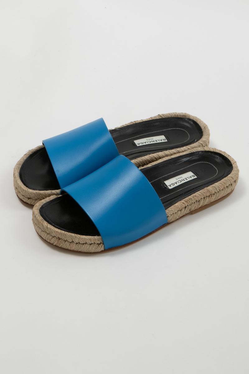 【スーパーSALE 全品10%OFFクーポン配布中】バレンシアガ BALENCIAGA サンダル スリッパ 靴 レディース 382138 WASC0 ブルー 送料無料 楽ギフ_包装 10%OFFクーポンプレゼント