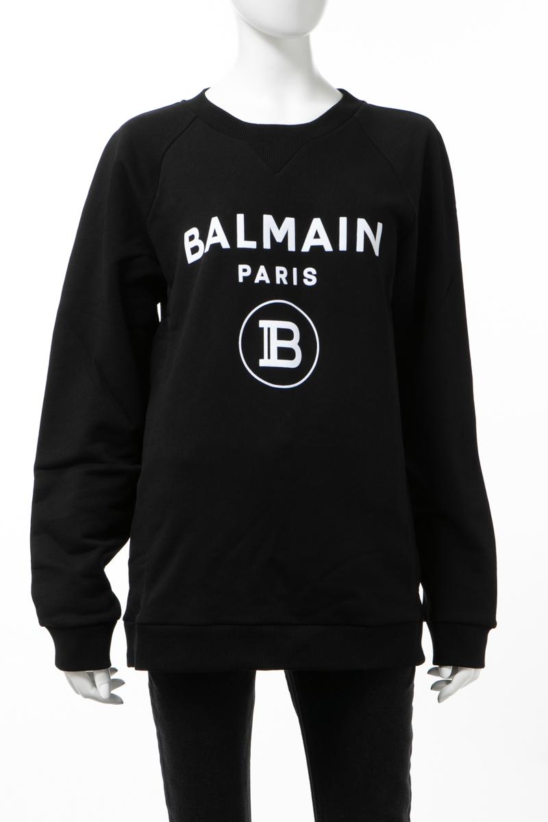 【スーパーSALE 全品10%OFFクーポン配布中】バルマン BALMAIN トレーナー スウェット プルオーバー レディース TF13691 I346 ブラック 送料無料 楽ギフ_包装 10%OFFクーポンプレゼント 2020年春夏新作