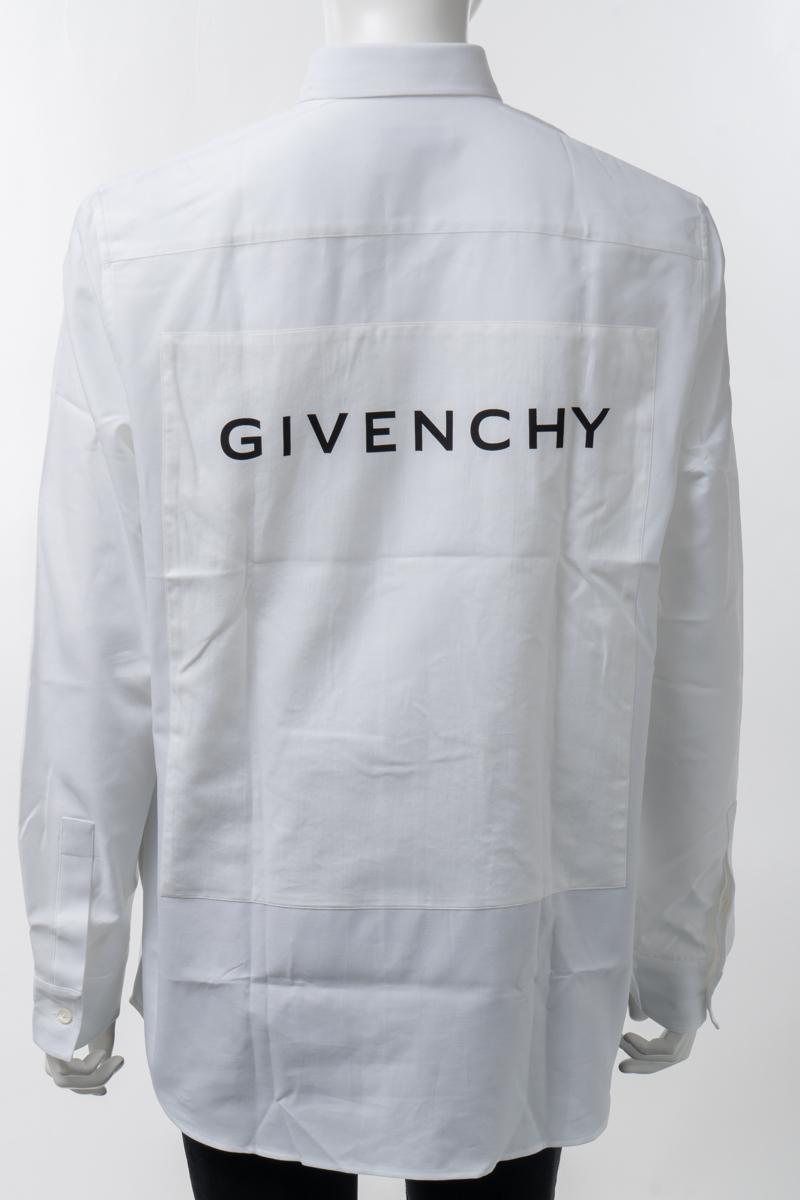 【全品10%OFFクーポン配布中!】ジバンシー ジバンシィ GIVENCHY シャツ ボタンダウンシャツ 長袖 メンズ BM60H012AG ホワイト 送料無料 楽ギフ_包装 2020年春夏新作 10%OFFクーポンプレゼント