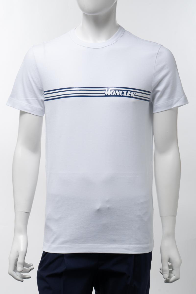 【全品10%OFFクーポン配布中!】モンクレール MONCLER Tシャツ 半袖 丸首 クルーネック メンズ 8C70710 8390T ホワイト 送料無料 楽ギフ_包装 2020年春夏新作 10%OFFクーポンプレゼント