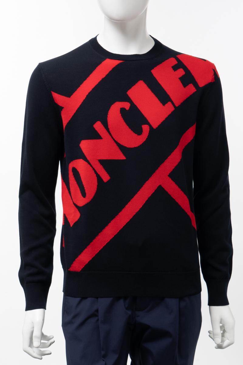 【全品10%OFFクーポン配布中!】モンクレール MONCLER セーター ニット 丸首 クルーネック メンズ 9C70300 V9085 ネイビー 送料無料 楽ギフ_包装 2020年春夏新作 10%OFFクーポンプレゼント