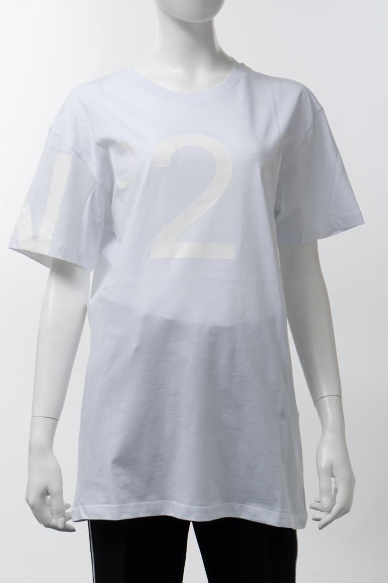 【スーパーSALE 全品10%OFFクーポン配布中】ヌメロヴェントゥーノ N°21 Tシャツ 半袖 丸首 クルーネック オーバーサイズ レディース F056 6316 ホワイト 送料無料 楽ギフ_包装 2020年春夏新作 10%OFFクーポンプレゼント 2020SS_SALE