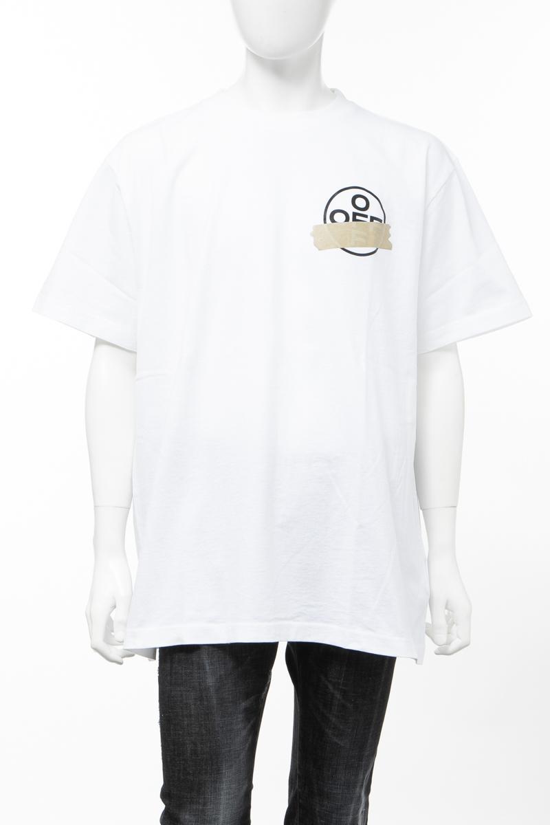 【全品10%OFFクーポン配布中!】オフホワイト OFF-WHITE Tシャツ 丸首 クルーネック OMAA038R201850020148 メンズ AA038R20 185002 ホワイト 送料無料 楽ギフ_包装 2020年春夏新作 10%OFFクーポンプレゼント