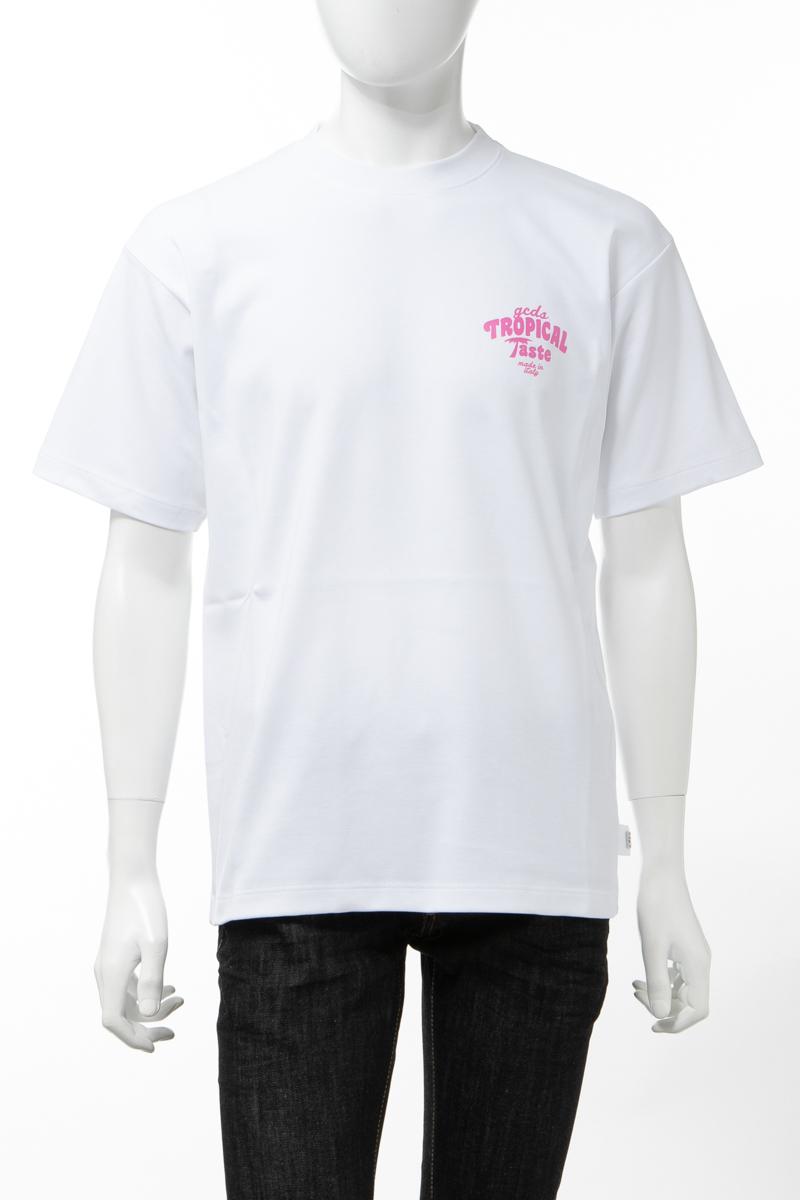 【全品10%OFFクーポン配布中!】ジーシーディーエス GCDS Tシャツ 半袖 丸首 クルーネック メンズ SS20M020078 ホワイト 送料無料 楽ギフ_包装 10%OFFクーポンプレゼント 2020年春夏新作