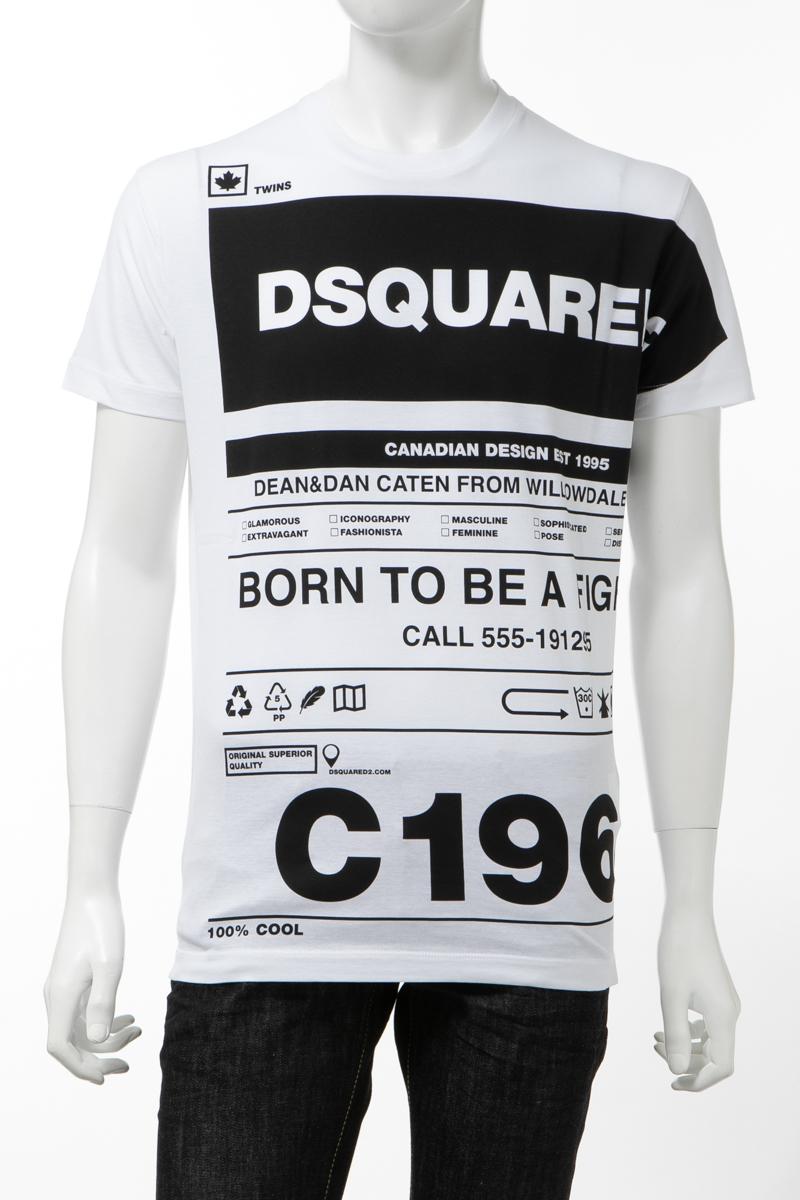 【全品10%OFFクーポン配布中!】ディースクエアード DSQUARED2 Tシャツ 半袖 丸首 クルーネック メンズ S74GD0697S22427 ホワイト 送料無料 楽ギフ_包装 10%OFFクーポンプレゼント 2020年春夏新作