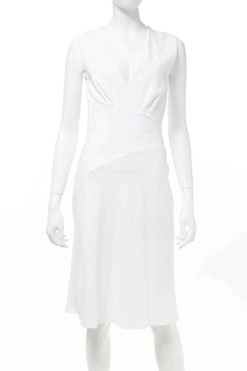 【スーパーSALE 全品10%OFFクーポン配布中】バレンシアガ BALENCIAGA ワンピース ドレス ノースリーブ レディース 312995 TAD82 ホワイト 送料無料 楽ギフ_包装 10%OFFクーポンプレゼント