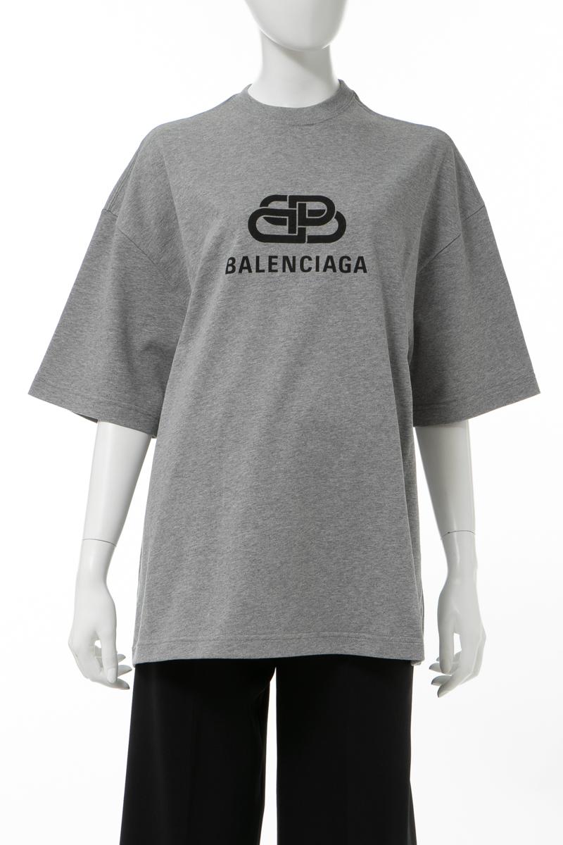 【スーパーSALE 全品10%OFFクーポン配布中】バレンシアガ BALENCIAGA Tシャツ 半袖 丸首 クルーネック オーバーサイズ レディース 571205 TGV75 グレー 送料無料 楽ギフ_包装 2020年春夏新作 10%OFFクーポンプレゼント