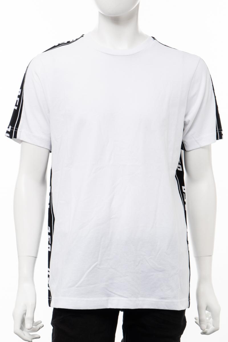 【6/1 0:00~6/3 9:59まで ポイント5倍】ディーゼル DIESEL Tシャツ 半袖 丸首 クルーネック T-JUST-RACE MAGLIETTA メンズ 00SMB2 0QAUL ホワイト 送料無料 楽ギフ_包装 10%OFFクーポンプレゼント