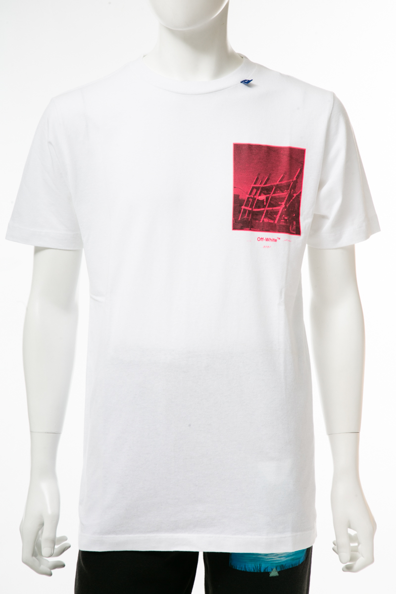 【全品10%OFFクーポン配布中!】オフホワイト OFF-WHITE Tシャツ 半袖 丸首 クルーネック メンズ AA027E19 185009 ホワイト 送料無料 楽ギフ_包装 10%OFFクーポンプレゼント 2019年秋冬新作