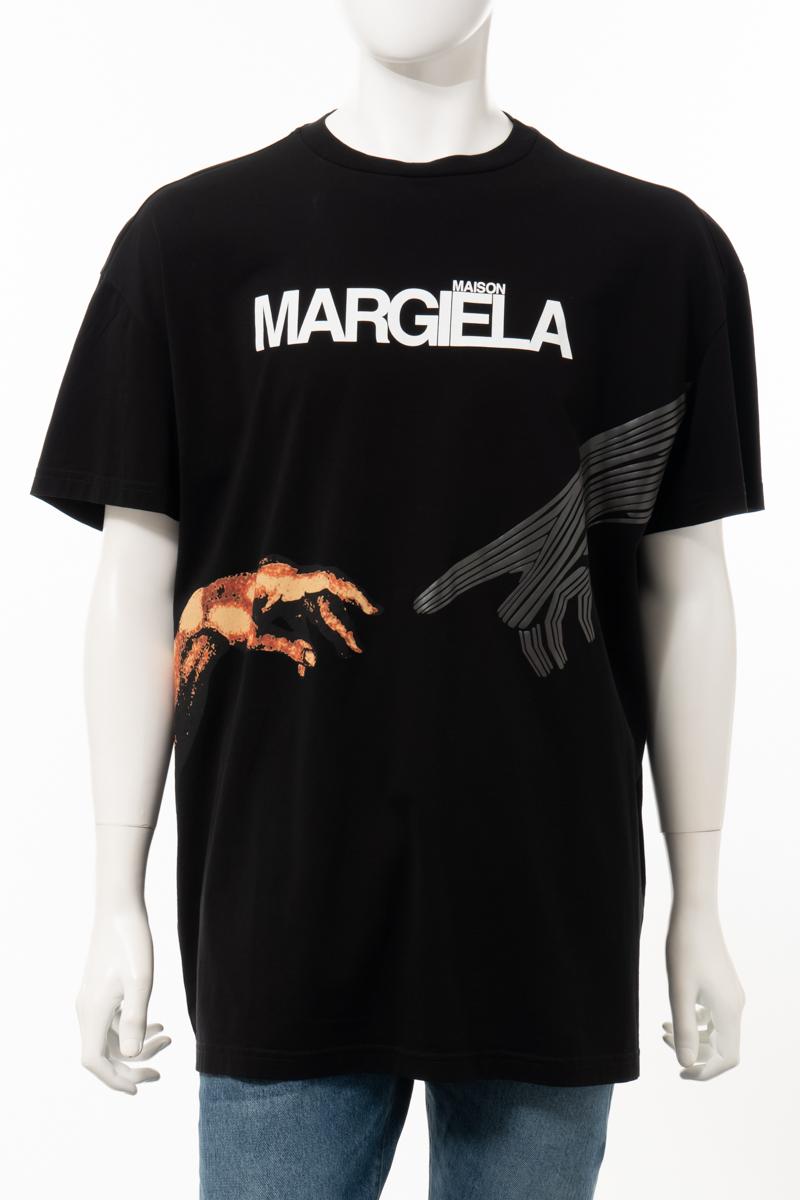 【全品10%OFFクーポン配布中!】マルタンマルジェラ MARTIN MARGIELA Tシャツ 半袖 丸首 クルーネック メンズ S50GC0533S22816 ブラック 送料無料 楽ギフ_包装 10%OFFクーポンプレゼント