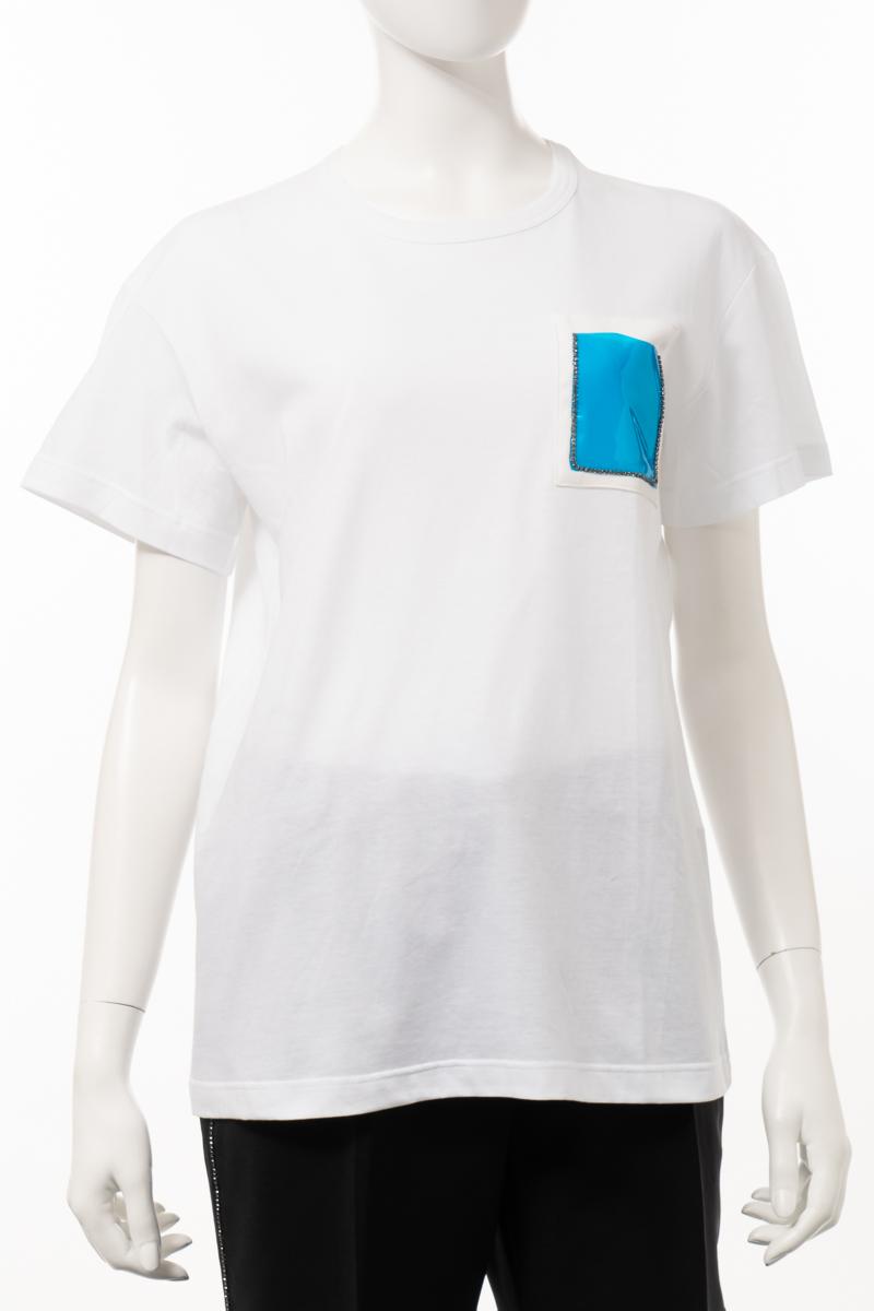 【スーパーSALE 全品10%OFFクーポン配布中】ヌメロヴェントゥーノ N°21 Tシャツ 半袖 丸首 クルーネック レディース F011 4157 201 ホワイト 送料無料 楽ギフ_包装 10%OFFクーポンプレゼント