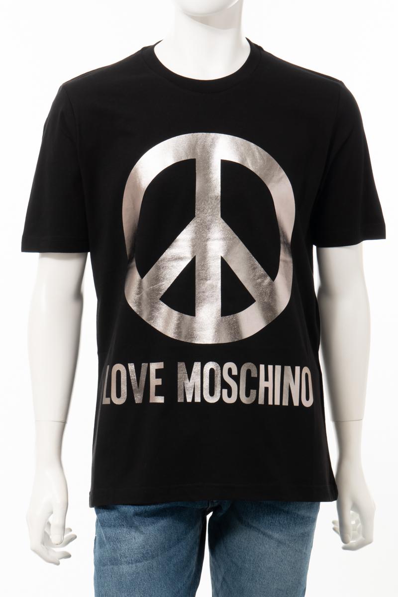【全品10%OFFクーポン配布中!】ラブモスキーノ LOVE MOSCHINO Tシャツ 半袖 丸首 クルーネック メンズ M47322Y M3876 ブラック 送料無料 楽ギフ_包装 10%OFFクーポンプレゼント