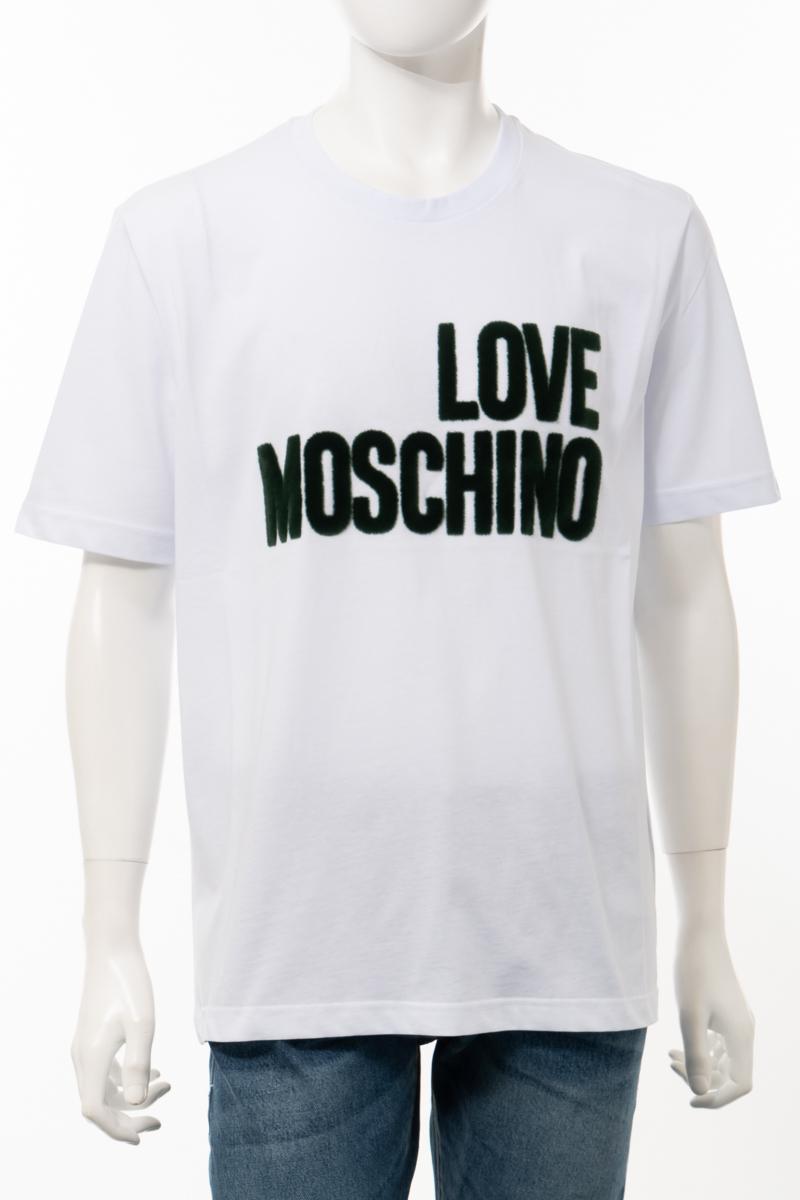 【全品10%OFFクーポン配布中!】ラブモスキーノ LOVE MOSCHINO Tシャツ 半袖 丸首 クルーネック メンズ M47323H M3876 ホワイト 送料無料 楽ギフ_包装 10%OFFクーポンプレゼント