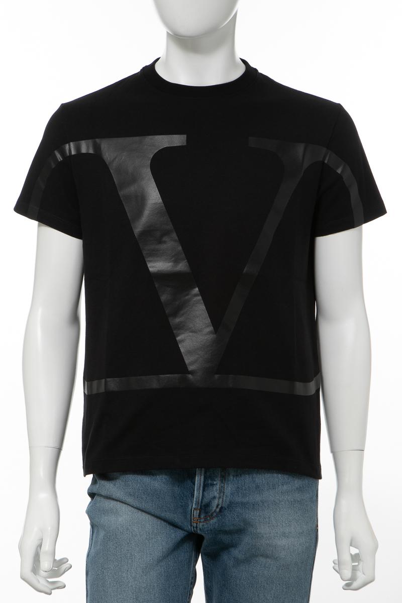 【全品10%OFFクーポン配布中!】ヴァレンティノ Valentino Tシャツ 半袖 丸首 クルーネック メンズ TV3MG02T5F6 ブラック×ブラック 送料無料 楽ギフ_包装 10%OFFクーポンプレゼント