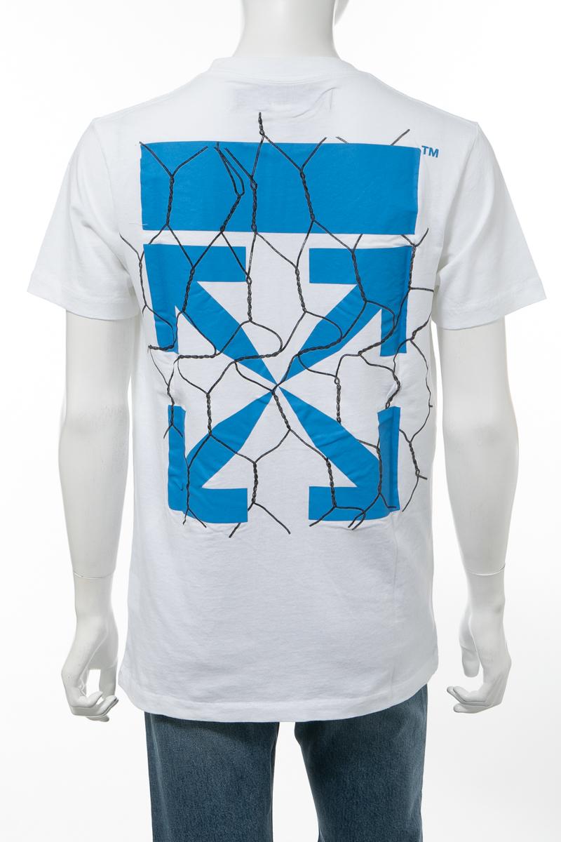 【全品10%OFFクーポン配布中!】オフホワイト OFF-WHITE Tシャツ 半袖 丸首 クルーネック OMAA027S201850020130 メンズ AA027S20 185002 ホワイト 送料無料 楽ギフ_包装 10%OFFクーポンプレゼント 2020年春夏新作