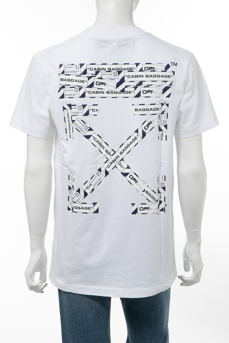 【全品10%OFFクーポン配布中!】オフホワイト OFF-WHITE Tシャツ 半袖 丸首 クルーネック OMAA027S201850030188 メンズ AA027S20 185003 ホワイト 送料無料 楽ギフ_包装 10%OFFクーポンプレゼント 2020年春夏新作