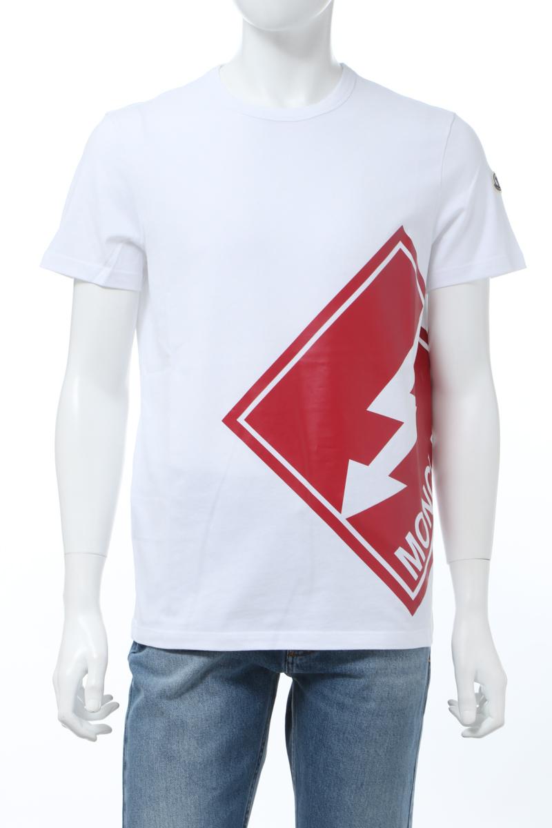 【全品10%OFFクーポン配布中!】モンクレール MONCLER Tシャツ 半袖 丸首 クルーネック メンズ 8C73510 8390T ホワイト 送料無料 楽ギフ_包装 10%OFFクーポンプレゼント